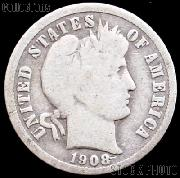 1908 Barber Dime G-4 or Better Liberty Head Dime