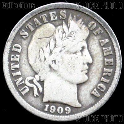 1909 D Barber Dime G 4 Or Better Liberty Head Dime