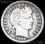 1909 Barber Dime G-4 or Better Liberty Head Dime