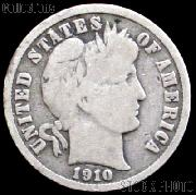 1910 Barber Dime G-4 or Better Liberty Head Dime