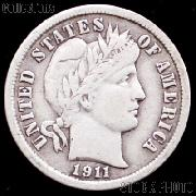 1911 Barber Dime G-4 or Better Liberty Head Dime