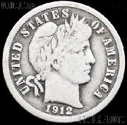 1912 Barber Dime G-4 or Better Liberty Head Dime
