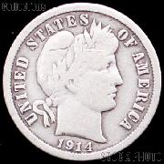 1914 Barber Dime G-4 or Better Liberty Head Dime