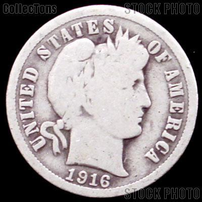 1916 S Barber Dime G 4 Or Better Liberty Head Dime 5 49