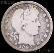 1892-O Barber Half Dollar G-4 or Better Liberty Head Half Dollar