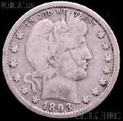1893-S Barber Half Dollar G-4 or Better Liberty Head Half Dollar