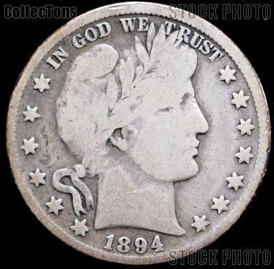 1894-O Barber Half Dollar G-4 or Better Liberty Head Half Dollar