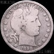 1898 Barber Half Dollar G-4 or Better Liberty Head Half Dollar