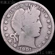 1901 Barber Half Dollar G-4 or Better Liberty Head Half Dollar