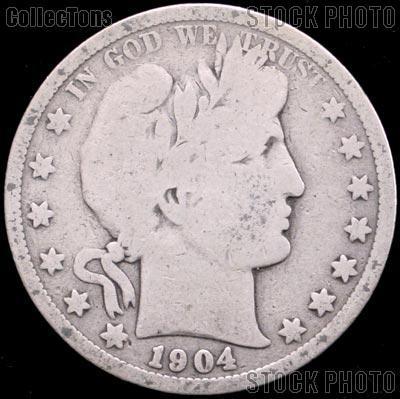 1904-O Barber Half Dollar G-4 or Better Liberty Head Half Dollar
