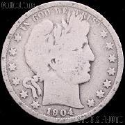 1904 Barber Half Dollar G-4 or Better Liberty Head Half Dollar