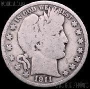 1911 Barber Half Dollar G-4 or Better Liberty Head Half Dollar