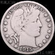 1915 Barber Quarter G-4 or Better Liberty Head Quarter