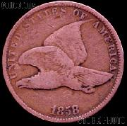1858 Flying Eagle Cent SMALL LETTERS G-4 or Better Flying Eagle Penny