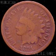 1871 Indian Head Cent Variety 3 Bronze G-4 or Better Indian Penny