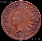 1894 Indian Head Cent Variety 3 Bronze G-4 or Better Indian Penny