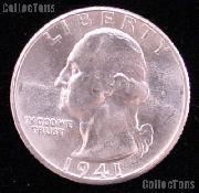 1941 Washington Silver Quarter Gem BU (Brilliant Uncirculated)* GEM BU for Album *