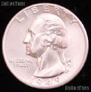 1949 Washington Silver Quarter Gem BU (Brilliant Uncirculated)