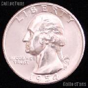1954-S Washington Silver Quarter Gem BU (Brilliant Uncirculated)