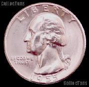 1955-D Washington Silver Quarter Gem BU (Brilliant Uncirculated)