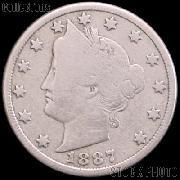 1887 Liberty Head V Nickel G-4 or Better