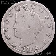 1892 Liberty Head V Nickel G-4 or Better