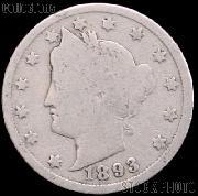 1893 Liberty Head V Nickel G-4 or Better