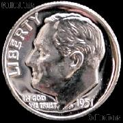 1951 Roosevelt Dime SILVER PROOF 1951 Dime Silver Coin