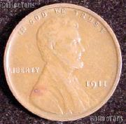 1911 Wheat Penny Lincoln Wheat Cent Circulated G-4 or Better
