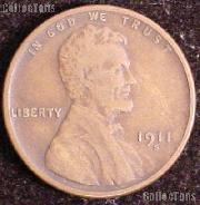 1911-S Wheat Penny Lincoln Wheat Cent Circulated G-4 or Better RARE DATE