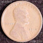 1914-D Wheat Penny Lincoln Wheat Cent Circulated G-4 or Better KEY DATE