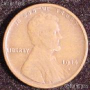 1914-S Wheat Penny Lincoln Wheat Cent Circulated G-4 or Better RARE DATE