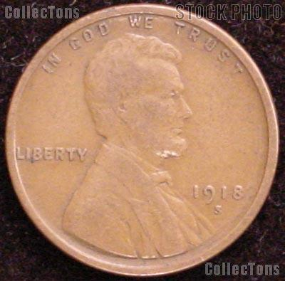 1918 S Wheat Penny Lincoln Wheat Cent Circulated G 4 Or Better 1 49