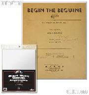 Sheet Music Sleeves by BCW, Pack of 100