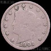 1901 Liberty Head V Nickel G-4 or Better