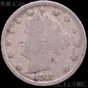 1911 Liberty Head V Nickel G-4 or Better