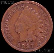 1887 Indian Head Cent Variety 3 Bronze G-4 or Better Indian Penny