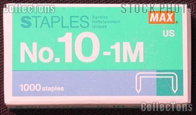 Flat Clinch Staples Mini Box of 1000 by MAX No.10