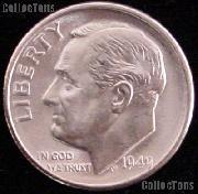 1949 Roosevelt Silver Dime Gem BU (Brilliant Uncirculated)