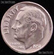 1951 Roosevelt Silver Dime Gem BU (Brilliant Uncirculated)