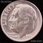 1961-D Roosevelt Silver Dime Gem BU (Brilliant Uncirculated)