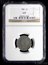 1886 Liberty Head V Nickel KEY DATE in NGC G 6