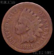 1881 Indian Head Cent Variety 3 Bronze G-4 or Better Indian Penny