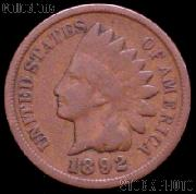 1892 Indian Head Cent Variety 3 Bronze G-4 or Better Indian Penny