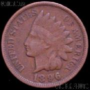 1896 Indian Head Cent Variety 3 Bronze G-4 or Better Indian Penny