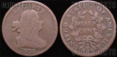 Draped Bust Half Cent 1800-1808