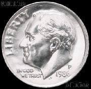 1986-P Roosevelt Dime Gem BU (Brilliant Uncirculated)