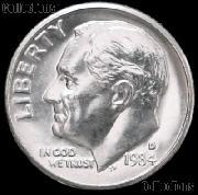 1984-D Roosevelt Dime Gem BU (Brilliant Uncirculated)