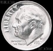 1982-P Roosevelt Dime Gem BU (Brilliant Uncirculated)