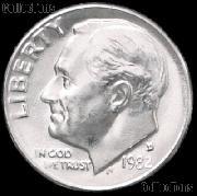 1982-D Roosevelt Dime Gem BU (Brilliant Uncirculated)